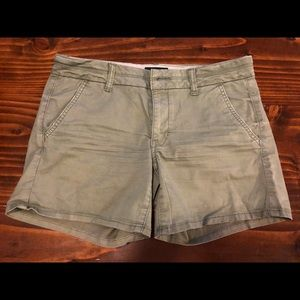 American Eagle Women's Olive Midi Stretch Shorts